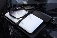 Кожаный клатч Air Black ручной работы