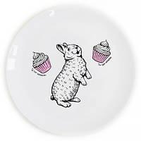 Тарелка Кролик сладкоежка на Подарок