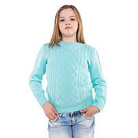 Яркий вязаный джемпер для девочек (разные цвета)