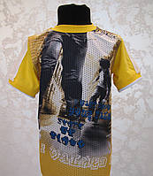 Летняя футболка 3D для мальчиков Брейкданс желтая