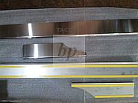 Защитные хром накладки на пороги Chevrolet Tacuma (шевроле такума) 2000-2008