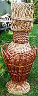 Плетеная ваза из лозы