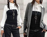 Трикотажная блуза 3092