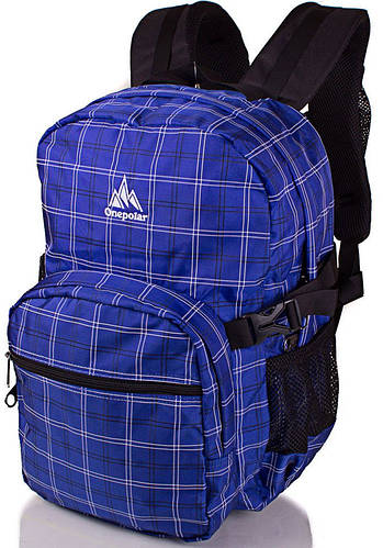 Удобный каждодневный рюкзак с отделением для ноутбука 25 л. Onepolar W1573-navy синий