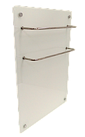 ИК стеклокерамический  полотенцесушитель-обогреватель 2 в 1  HGlass GHT 5070 белый 400/200 Вт