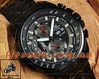 Мужские наручные часы Casio Edifice EF-558BK-1AV хронограф японское качество касио