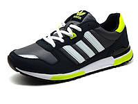 Кроссовки Adidas Classic мужские, темно-синие, кожаные, фото 1