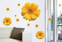 Интерьерная наклейка на стену или окно - декоративные наклейки  - цветочки