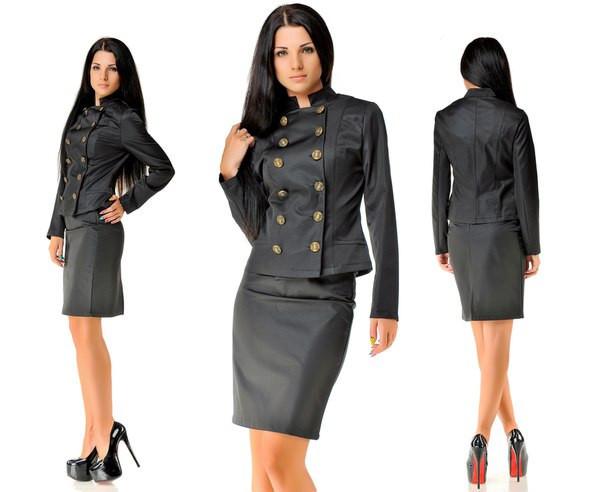 Купить женский костюм с юбкой недорого