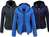 Демисезонная женская куртка синяя,черная,голубая