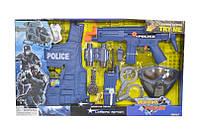 Детский полицейский набор 9 аксессуаров: автомат, жилет, бинокль, маска