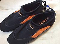 Коралловые тапочки ВЕСО черно-оранжевые р. 41, 42, 43, 44, 45, 46 (для серфинга, плавания)
