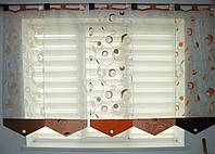 Японские панельки Пузырьки 2,40м Шоколад и оранж