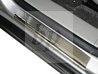 Защитные хром накладки на пороги Chevrolet Orlando (шевроле орландо) 2010+