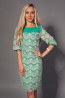 Платье женское модель №480-2, размеры 46-48,48-50,50-52,52-54,54-56 бирюза