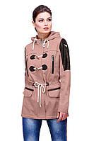 Модная демисезонная женская  куртка парка