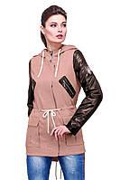 Молодежная  женская  куртка парка с капюшоном от производителя