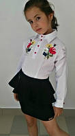 Блуза для школы Вышивка