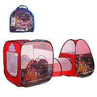 """Двойная детская палатка с тоннелем """"Тачки""""  SG7015-4, 270х92х92см"""