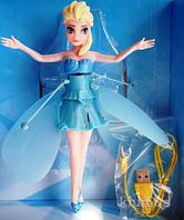 Кукла Летающая кукла фея Frozen Крижане серце, 19см, летает, свет (цветной), USB шнур, в кор-ке