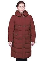 Стильное женское пальто  с капюшоном в модном цвете