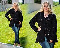 Женская кофта на пуговицах больших размеров