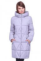 Стильный  зимний пуховик с карманами и капюшоном