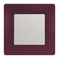 ETIKA Механизм выключателя 1-клавишного с подсветкой, Белый
