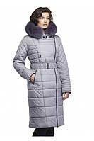 Модное зимнее пальто удлиненное с поясом от производителя