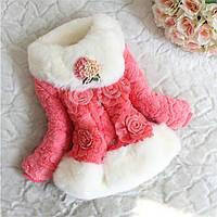 Яркая розовая  шубка  для девочки