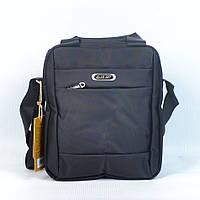 Модная молодёжная сумка через плече JiaJun (вертикальная для планшета) - Код 6169 - (черная)