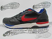 Кроссовки мужские Nike черно-серые с красным