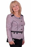 Нарядный женский пиджак модного кроя на пуговицах