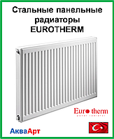 Стальной панельный радиатор  Eurotherm 22k 500*1300 б.п.
