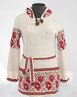 Женская вышиванка туника с капюшоном