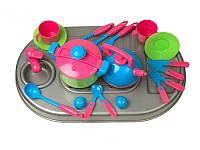 Детская кухня с плитой и посудой Kinderway 04-410