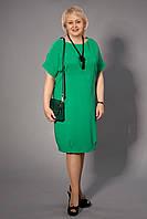 Яркое женское платье большого размера прямого покроя
