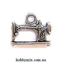 """Метал. подвеска """"швейная машинка"""" серебро (1,9х1,5 см) 6 шт в уп."""