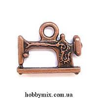 """Метал. подвеска """"швейная машинка"""" медь (1,9х1,5 см) 6 шт в уп."""