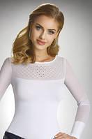 Женская блуза белого цвета с длинным рукавом сетка. Модель Daisy Eldar