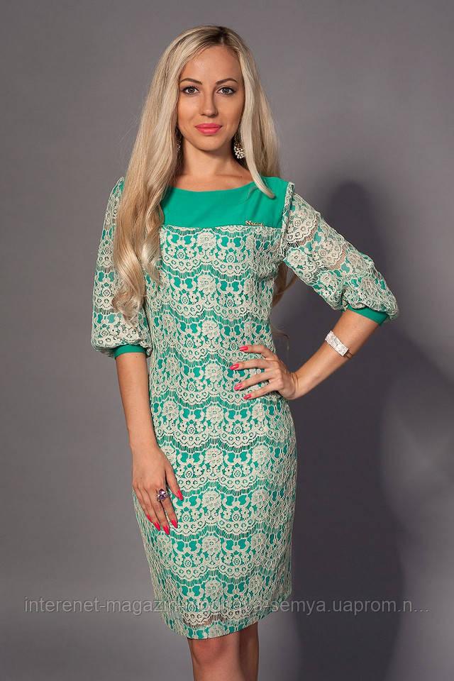 Платье с кружевного полотна