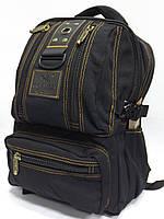 Городской брезентовый рюкзак Gold Be! 1304 черный повседневный