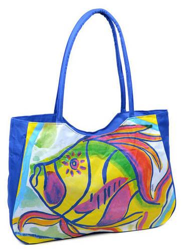 Стильная пляжная сумка Podium  1329 blue, синий