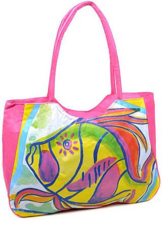 Вместительная пляжная сумка Podium  1329 light-pink, светло-розовый