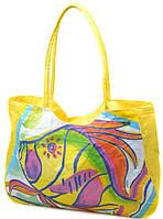 Красивая пляжная сумка Podium 1329 yellow, желтый