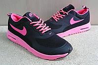 Женские Кроссовки Nike air max thea черно розовые