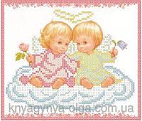 Княгиня Ольга Схема для вышивки бисером Ангелочки на хмаринці СД-184
