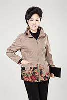 Женская куртка с вышивкой, 4 цвета, батал