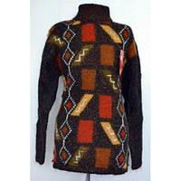 Отличный вязанный свитер из шерсти большого размера с рисунком