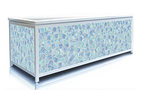 Экран под ванну 180 см, мозаика (голубой), пластиковый каркас